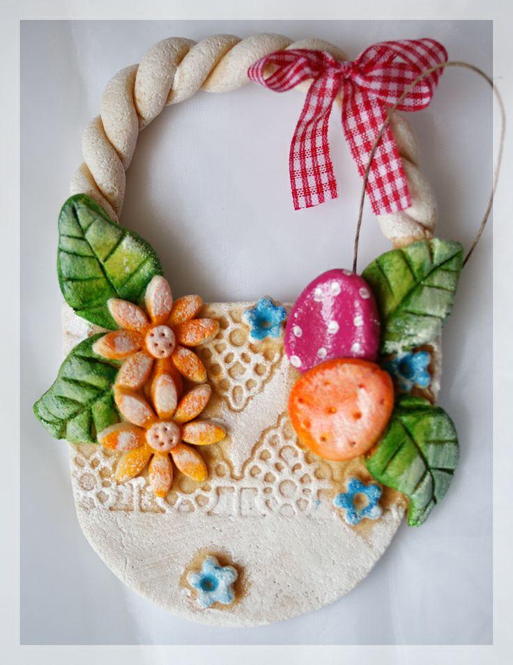 Salt Dough Easter Basket