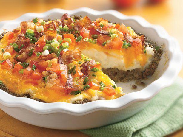 Betty Crocker ground beef & twice-baked potato pie