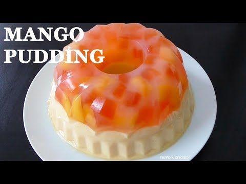 Resep Puding Lapis Mangga Mango Pudding Recipe Trivina Kitchen Youtube Puding Mangga Resep Makanan Mango