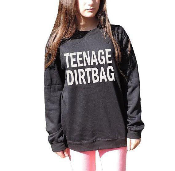 Teenage Dirtbag Sweatshirt One direction Sweater Unisex crewneck 1D harry styles Lyrics Inspired band t shirt Hipster on Etsy, $27.50