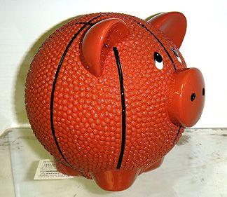 """6"""" Basketball Piggy Bank"""
