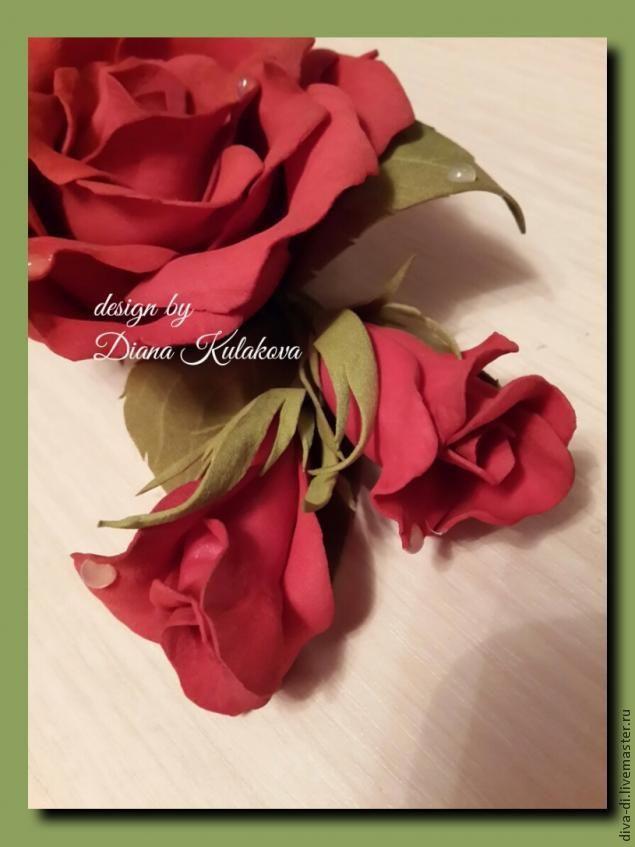 """Создание розы из фоамирана """"Вивьен"""" - Ярмарка Мастеров - ручная работа, handmade"""