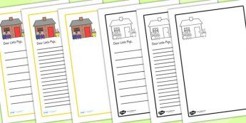 The Big Bad Wolf Sorry Letter Writing Frame - the big bad wolf, letter, writing frame, letter writing, writing template, writing aid, letter template