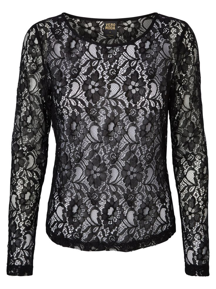 Lace top from VERO MODA. We love the delicate and feminine feel that lace adds to your look.