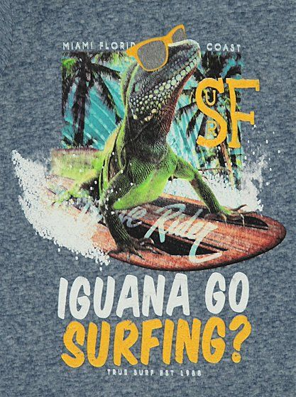 Iguana Surfing T-Shirt, read reviews and buy online at George. Shop from our latest range in Kids. It won't be just the sun dazzling on the beach with this s...