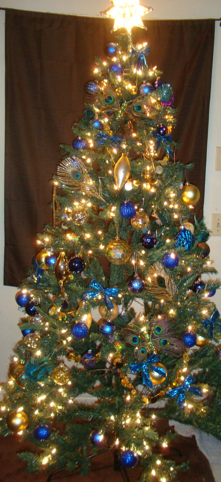 17 Best Images About Peacock Christmas Tree Decorations On
