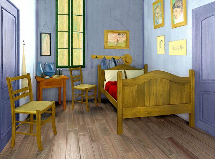 #interior #bed #bedroom #MuséeD'Orsay #painting #Paris #Arles #VincentVanGogh Modellazione e rendering: Rhinoceros, MarvelousDesigner, Archicad e Cinema 4D + Vray Post-produzione: Photoshop e Lightroom