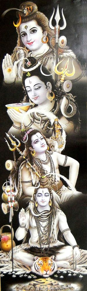 Different Postures of Lord Shiva