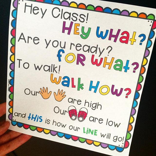 "Last chance to grab ""Line Up Chants and Posters"" for FREE tonight! #shh link in profile https://www.teacherspayteachers.com/Product/Line-Up-Chants-and-Posters-2743620"
