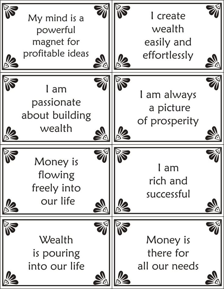 Printable Affirmation Cards-wealth Photo: This Photo was uploaded by sema87. Find other Printable Affirmation Cards-wealth pictures and photos or upload...