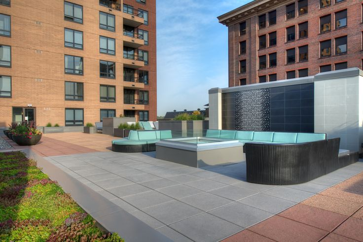 Galtier Towers Rooftop Terrace, Edina, MN, Installation by bdh+young