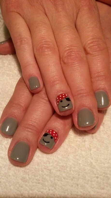 Pirate nail design