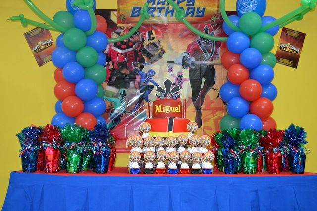 Power Ranger Samurai Birthday Party Ideas   Photo 1 of 8