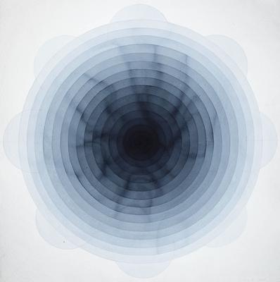 "Laura Sue Phillips   Pain's Grey  watercolor, pencil, paper  2010  36 ""x 36 """
