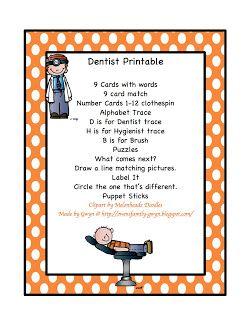 Dental Hygienist paper money printable