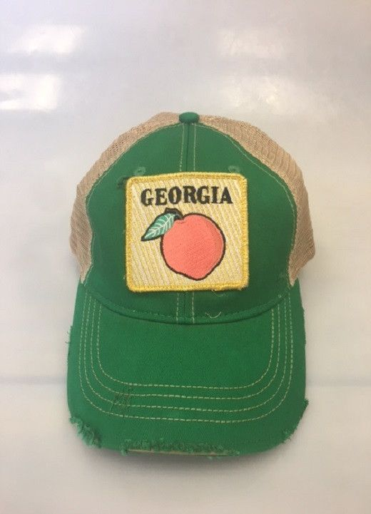 Shopdejavu.com Judith March Georgia Peach Patch - Green.  What better way to represent your stat than with this best selling hat.