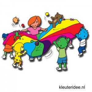 Gymles voor kleuters met parachute 3, kleuteridee.nl