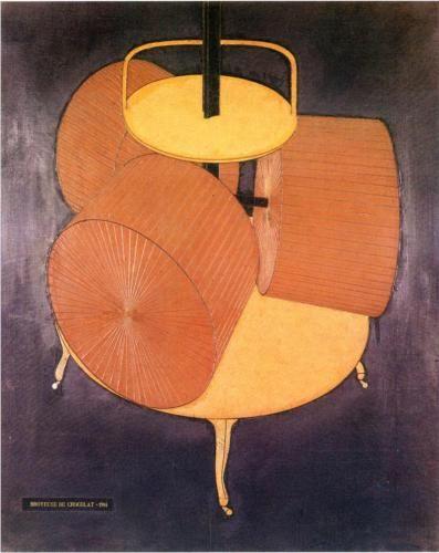 Marcel Duchamp (1887 - 1968)   Expressionism, Cubism   Chocolate Grinder - 1914