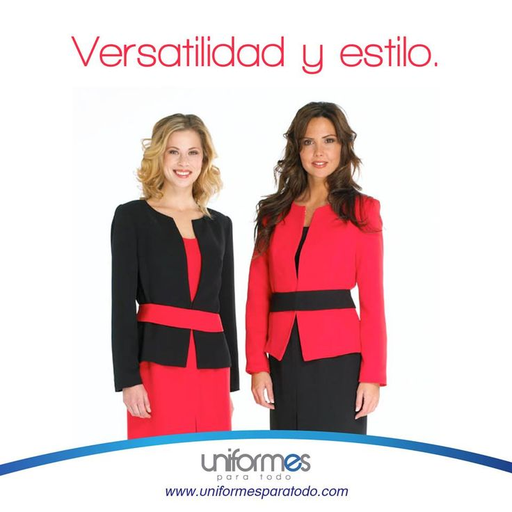Dos componentes fundamentales a la hora de hacer un buen uniforme. ¡Cuenta con ellos en tu empresa!. #Profesionalismo #Uniforme #Woman #Beauty #Design #UniformesParaTodo  www.uniformesparatodo.com