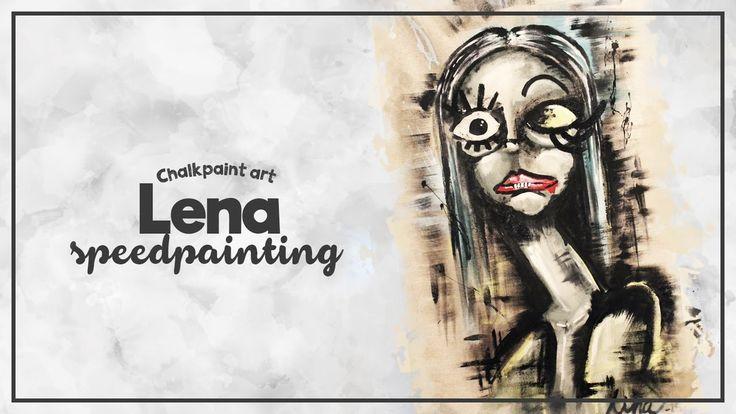 Say hello to LENA, Autentico Chalk paint Art by LINA - Speed drawing