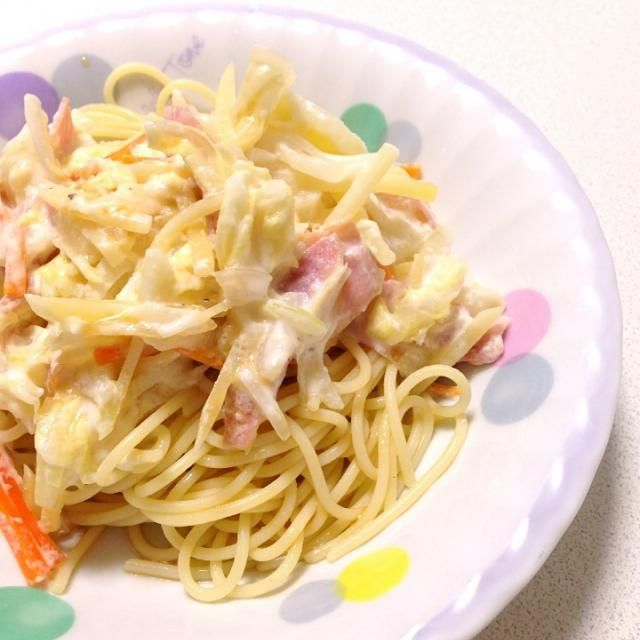 スパゲティサラダみたいになっちゃった(笑) - 5件のもぐもぐ - 春野菜のチーズマヨポン冷製パスタ by CATomm58