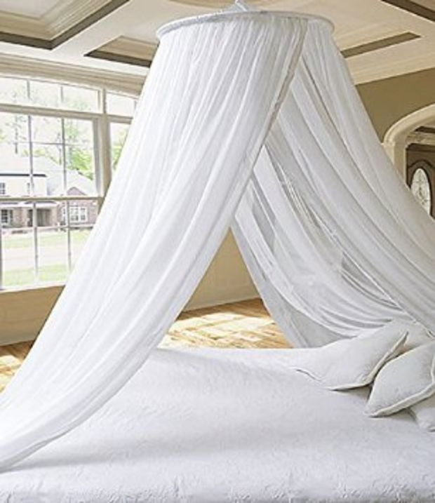 Dreamma Eletgant White Round Bed Canopy Mosquito Net & 213 best mosquitoes net images on Pinterest | Child room Bedroom ...