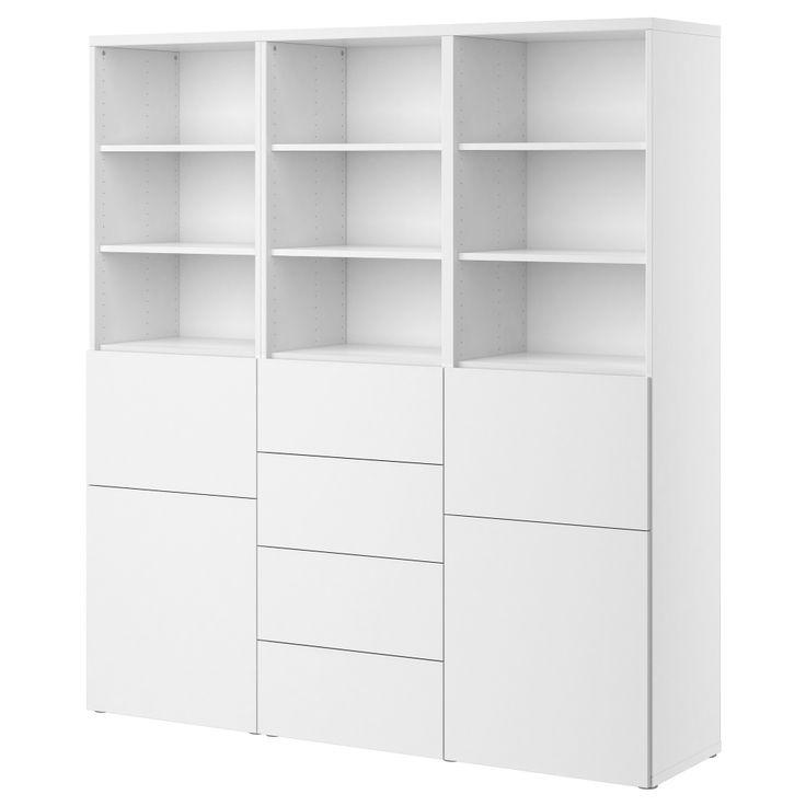 BESTÅ Förvaringskombination+dörrar/lådor - vit - IKEA