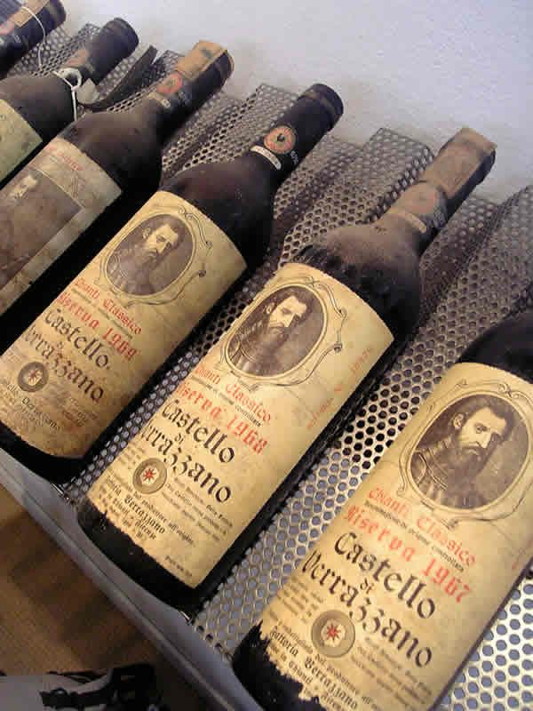 Castello Di Verrazzano Chianti Classico Riserva 1969 . http://blog.bradswine.com/brads-wine-facts-what-colour-tells-you/