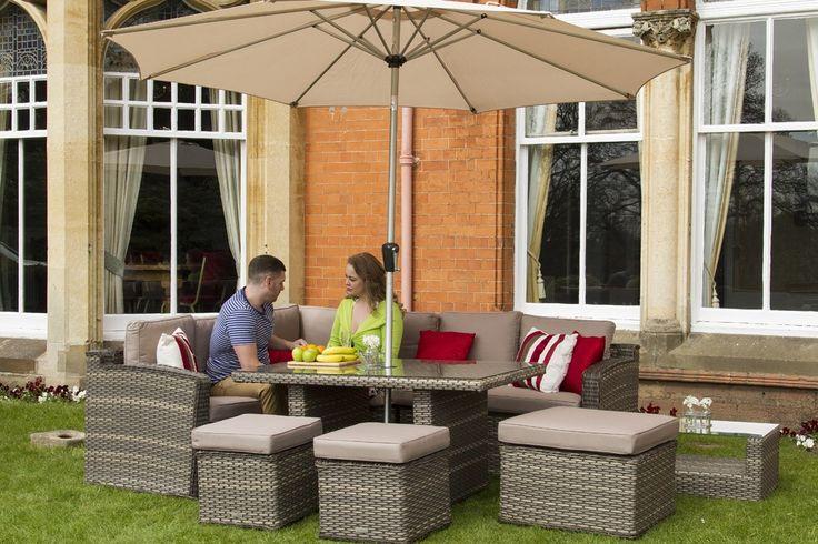 Chelsea Dining Corner Sofa Rattan Furniture Outdoor Set - Conservatory