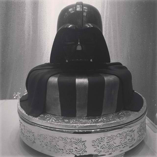 Darth Vader Groom's Cake