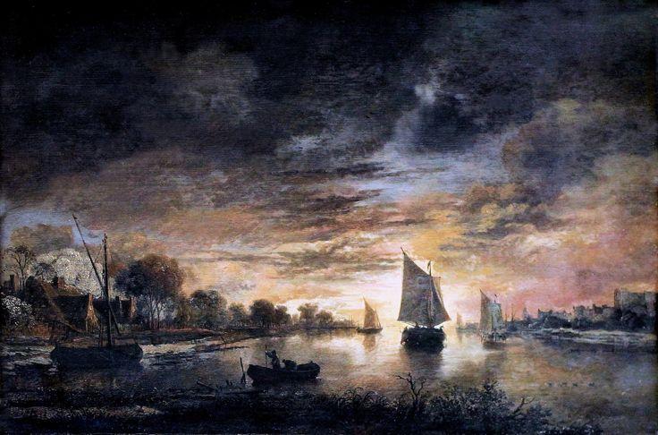 https://flic.kr/p/h8Tak7 | IMG_5999  Aert van der Neer. From 1603 to 1677. Amsterdam. Canal at night with fishing boats. 1645 | Aert van der Neer. 1603-1677. Amsterdam. Fleuve avec bateaux au lever de Lune.   1665.  Francfort Städelmuseum.  Aert van der Neer. From 1603 to 1677. Amsterdam. River with boats at moonrise. 1665. Frankfurt Städelmuseum.