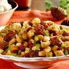 Sausage and cranberry dressing.