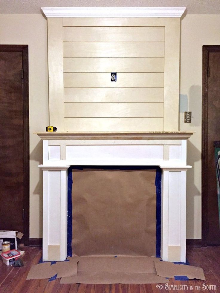 Diy farmhouse fireplace makeover on a budget fireplace