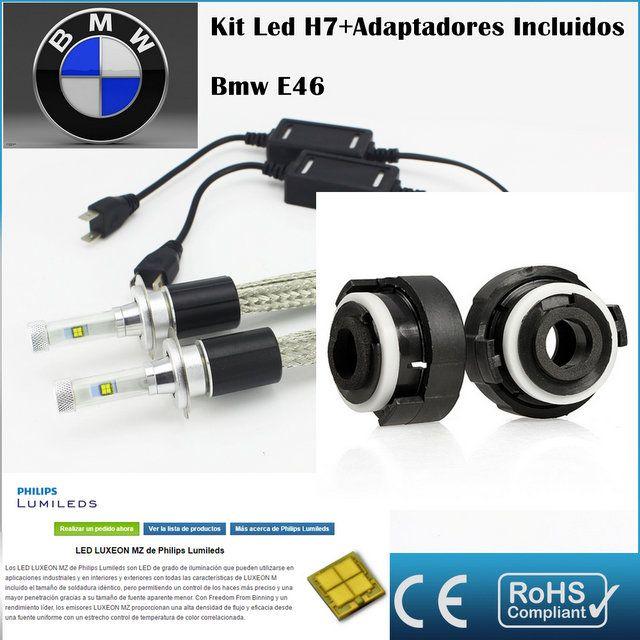 Kit Led BMW E46, AR4,con led PHILIPS de 9600 Lúmenes, Kit de conversión de Faros Halogenos H7 a Faros Led + Adaptadores :: MERCAELITE, kit xenon,Kit Led,Bombillas Led y Xenon,Accesorios