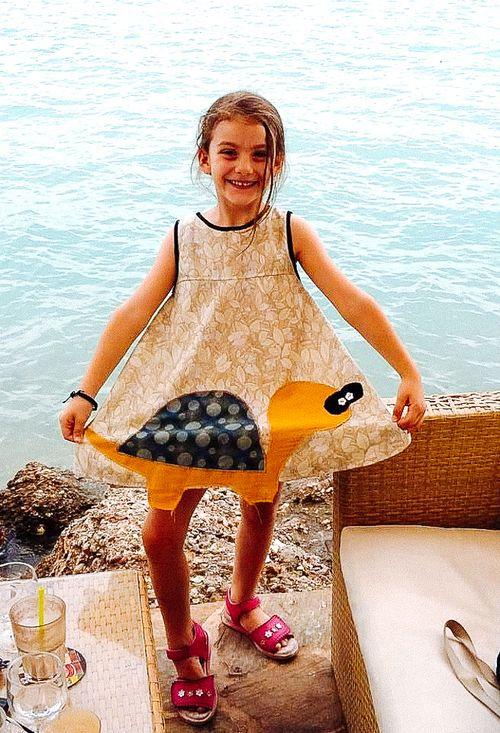 European vintage cotton fabrics and retro designs for little girls