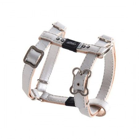 Rogz Lapz Luna Dog Harness Ivory - Medium