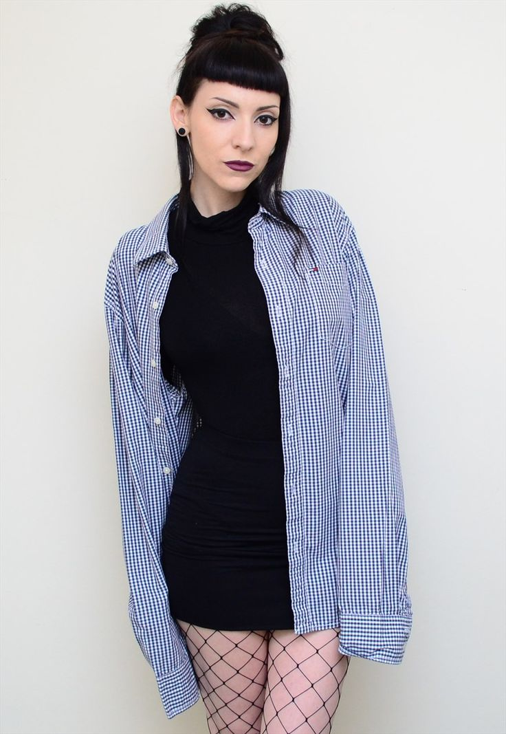 00's Retro Tight Checked Tommy Hilfiger Slouchy Shirt | CherryCameTo | ASOS Marketplace