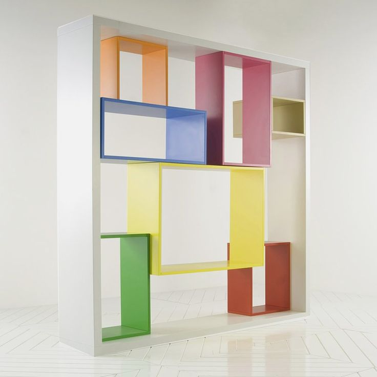 Perfect Colorful And Eye Catching Bookshelf Unit In Modular Shelving System