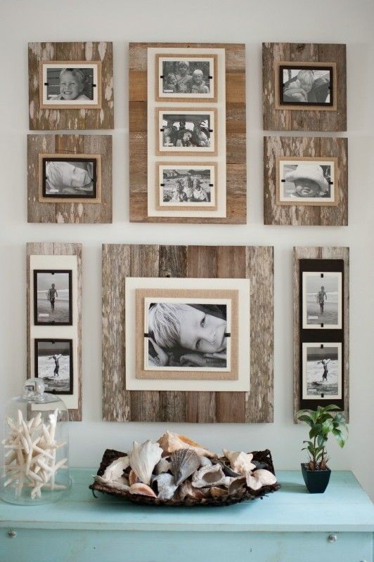 Perfect Reclaimed Wood 22 X 22 Frame 8 X 10 Photo  Brown   Classy Country.  Distressed Frame Wall Collage,behind The Couch Maybe Part 25