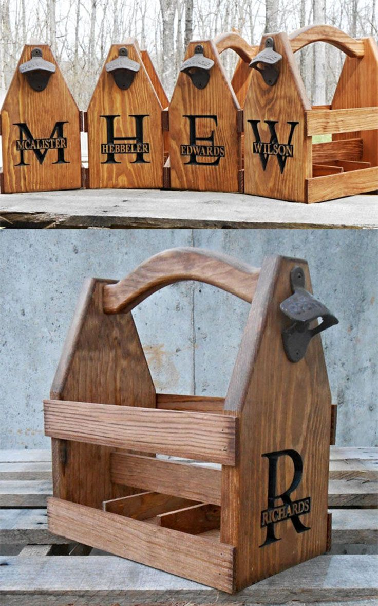 Personalized Beer Caddy Groomsmen Gift