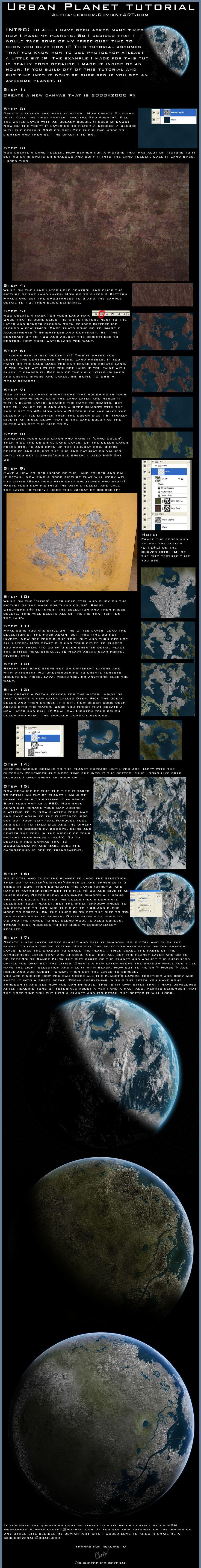 Urban Planet Tutorial by Alpha-Leader.deviantart.com on @DeviantArt