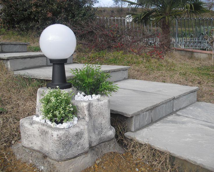11 best realizzazioni lampade da giardino e illuminazione - Mattonato per giardino ...