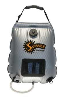 I've seen only ONE tiny house that uses a solar camp shower bag for showering. If placed in front of a window, preferably a bathroom window, easy instant hot water to shower in.