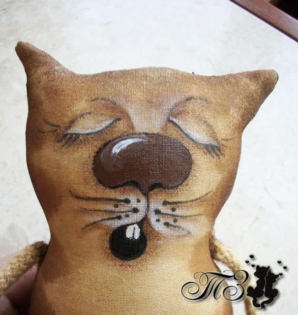 Кофейная игрушка: кот с гитарой. Мастер-класс. Часть 3. Рисуем, декорируем и…