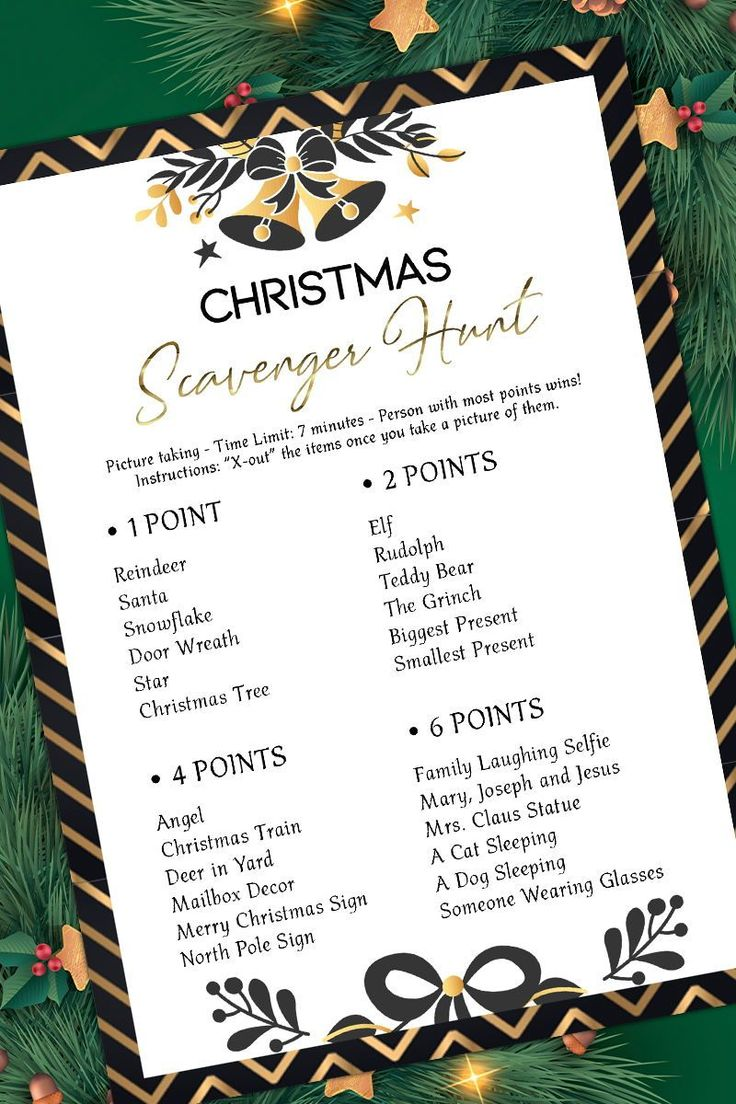 Christmas Scavenger Hunt GameHoliday Party GamePrintable