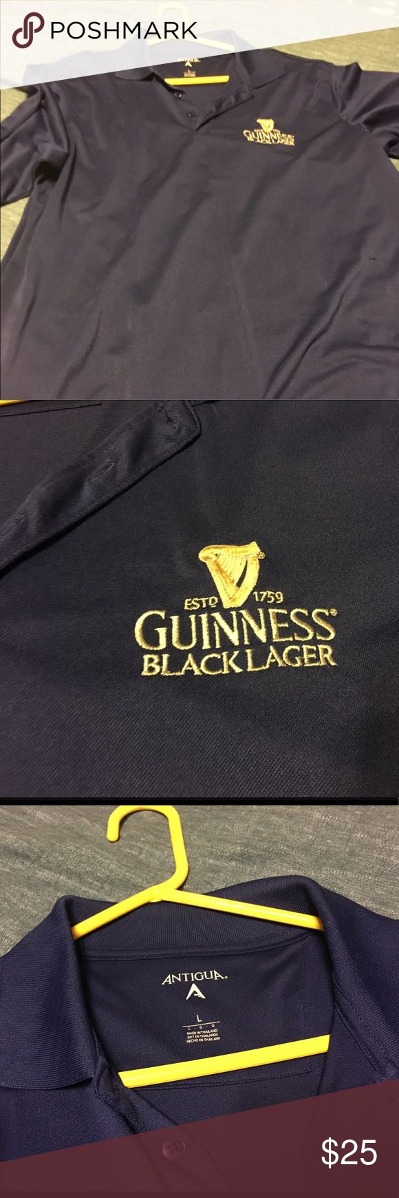 Guinness Black Lager Golf/Polo Style Shirt Guinness Black Lager Golf/Polo Style Shirt, Navy, NWOT, never worn, smoke free home Antigua Shirts Polos