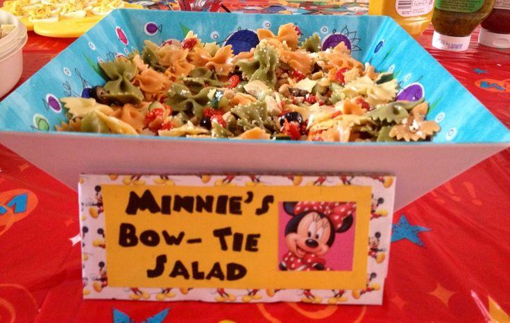 Minnie 39 S Bow Tie Pasta Salad Kid Friendly Pasta Salad