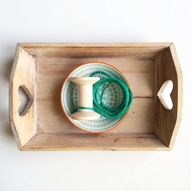 Montessori practical life tray -- winding a spool, perfect addition to a sewing sequence