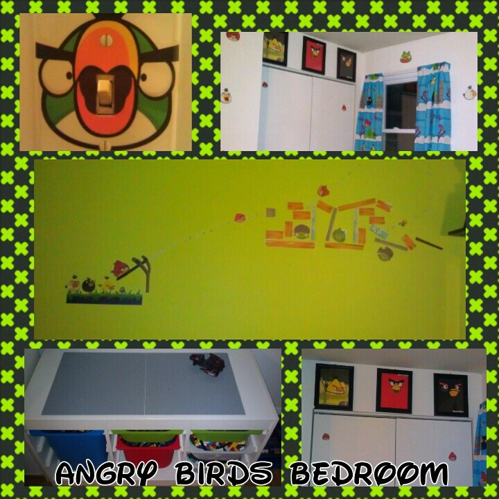 Angry Birds Bedroom Matching Curtains Made From Flat