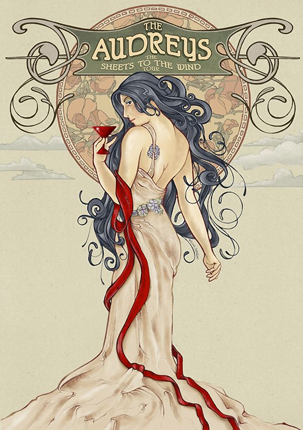 #theaudreys #debaser #poster #illustration